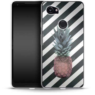 Google Pixel 2 XL Silikon Handyhuelle - Pink Pineapple von Victoria Topping
