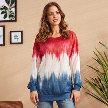LUUKSE Sweatshirt mit sehr tief angesetzter Schulterpartie