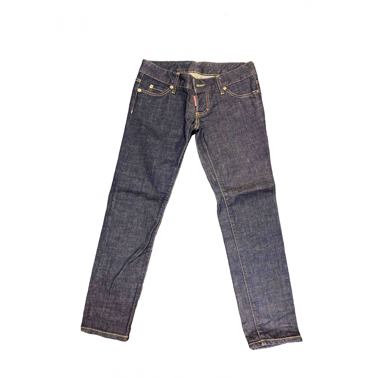 Dsquared2 \N Blue Cotton Jeans for Women 38 FR