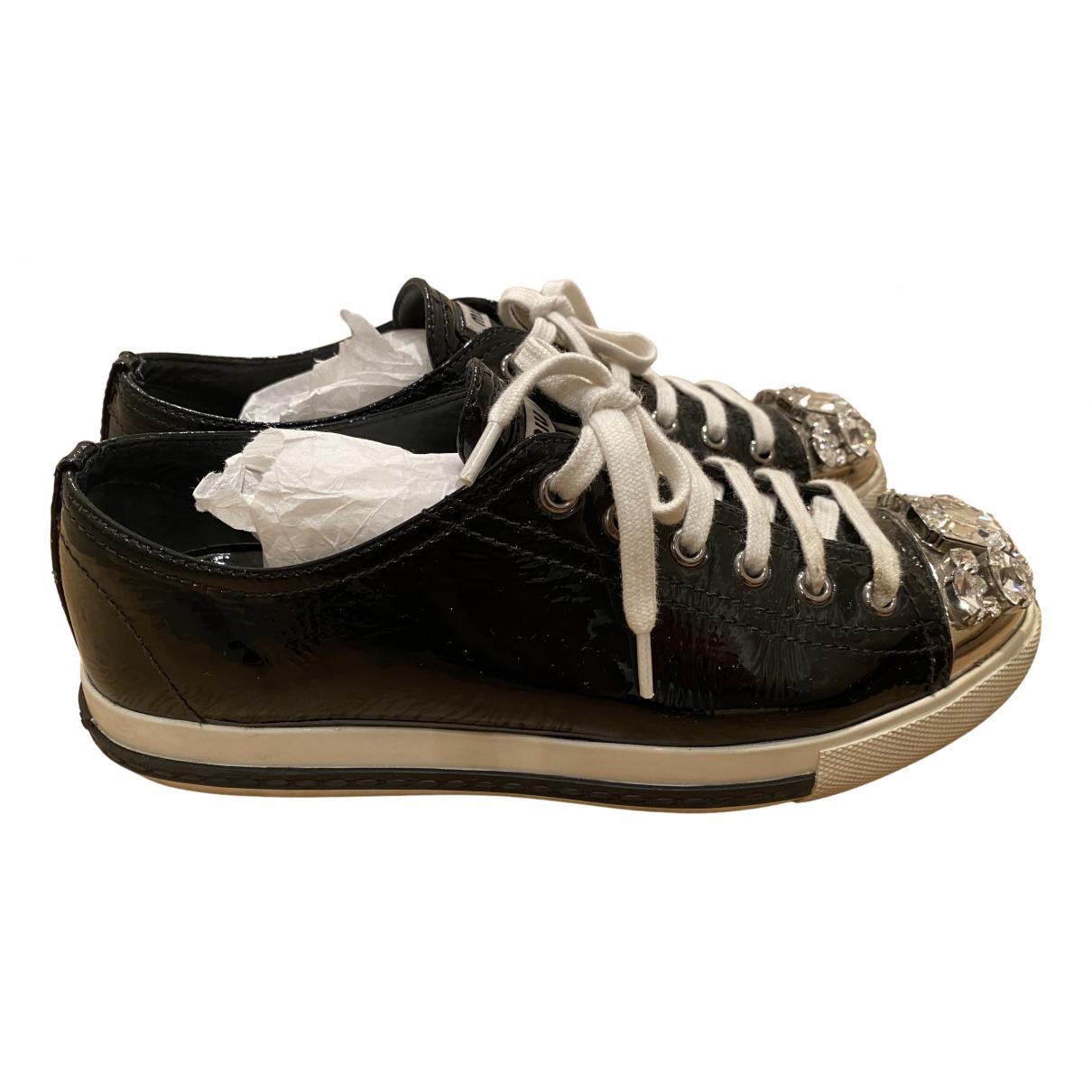 Miu Miu N Black Patent leather Trainers for Women 37 EU