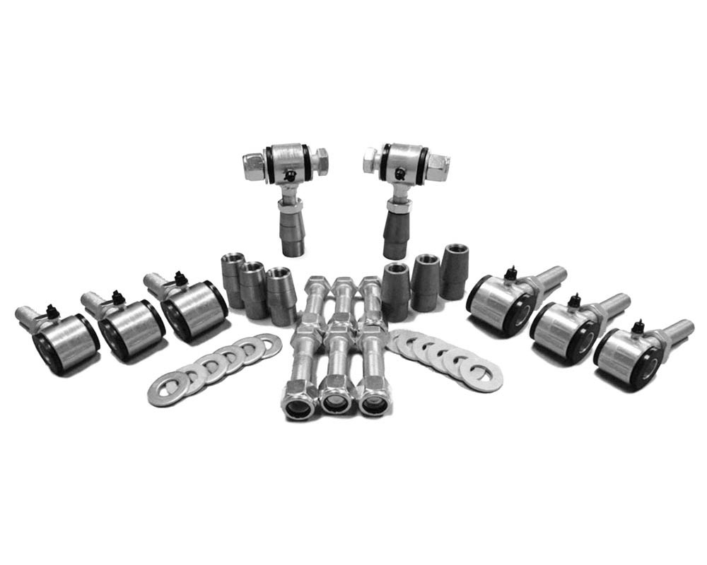 Steinjager J0007005 5/8-18 RH LH Poly Bushings Kits, Male 3/8 Bore x 1.50 Wide fits 1.250 x 0.095 Tubing Zinc Plated Bush Housing Eight Poly Ends Per