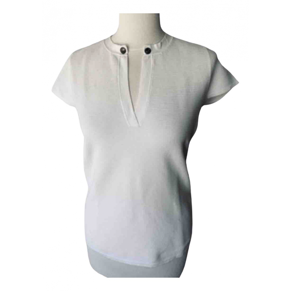 Balmain \N White Cotton  top for Women 40 FR