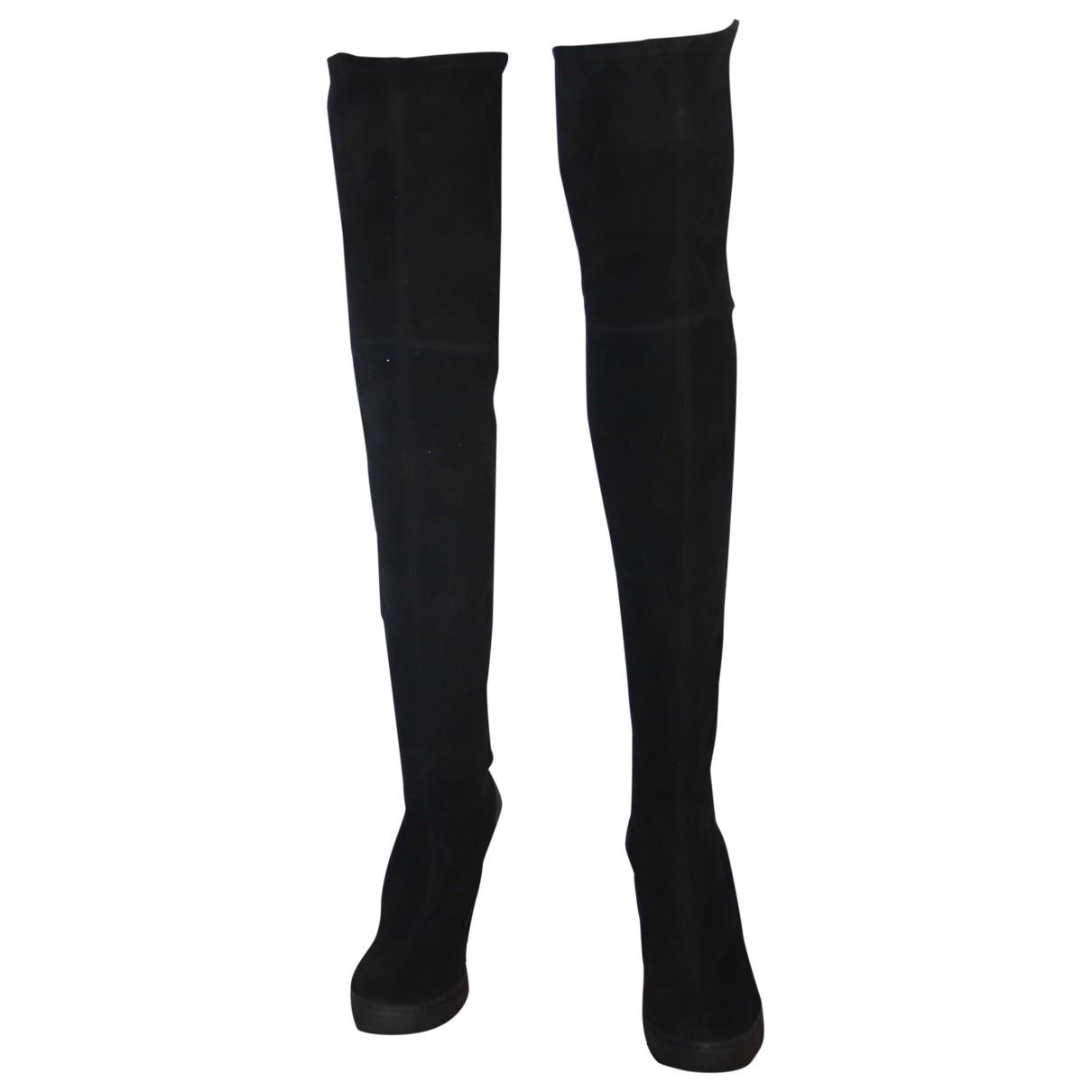 Pierre Hardy \N Black Suede Boots for Women 38 EU