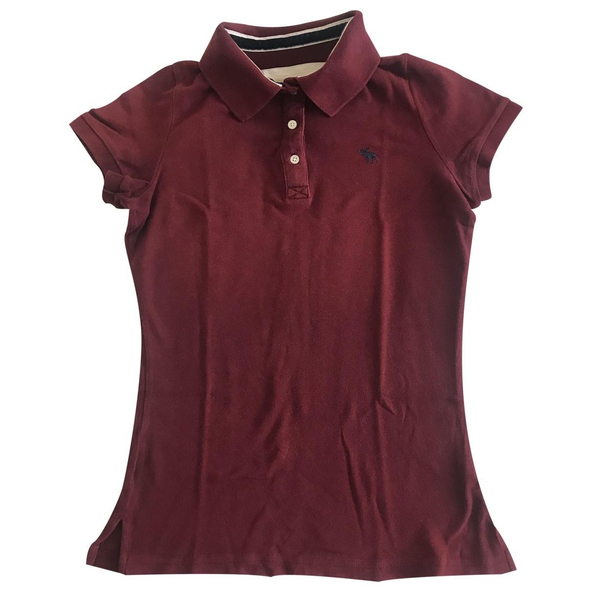 Abercrombie & Fitch - Top   pour femme en coton - bordeaux