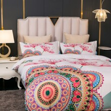 Mandala Print Bedding Set Without Filler