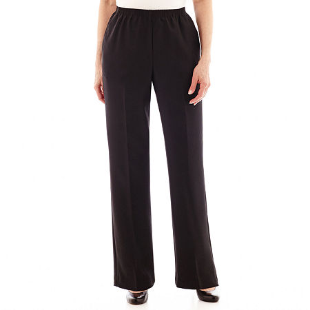 Alfred Dunner Pull-On Pants, 12 , Black