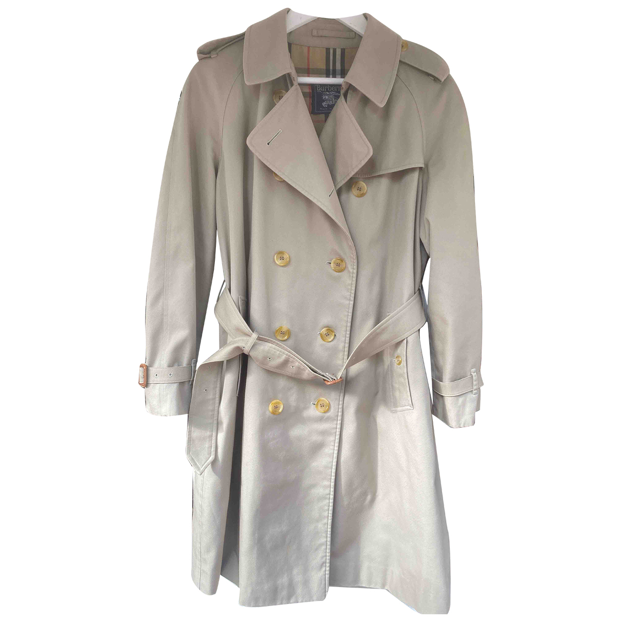 Burberry N Beige Cotton Trench coat for Women 40 FR