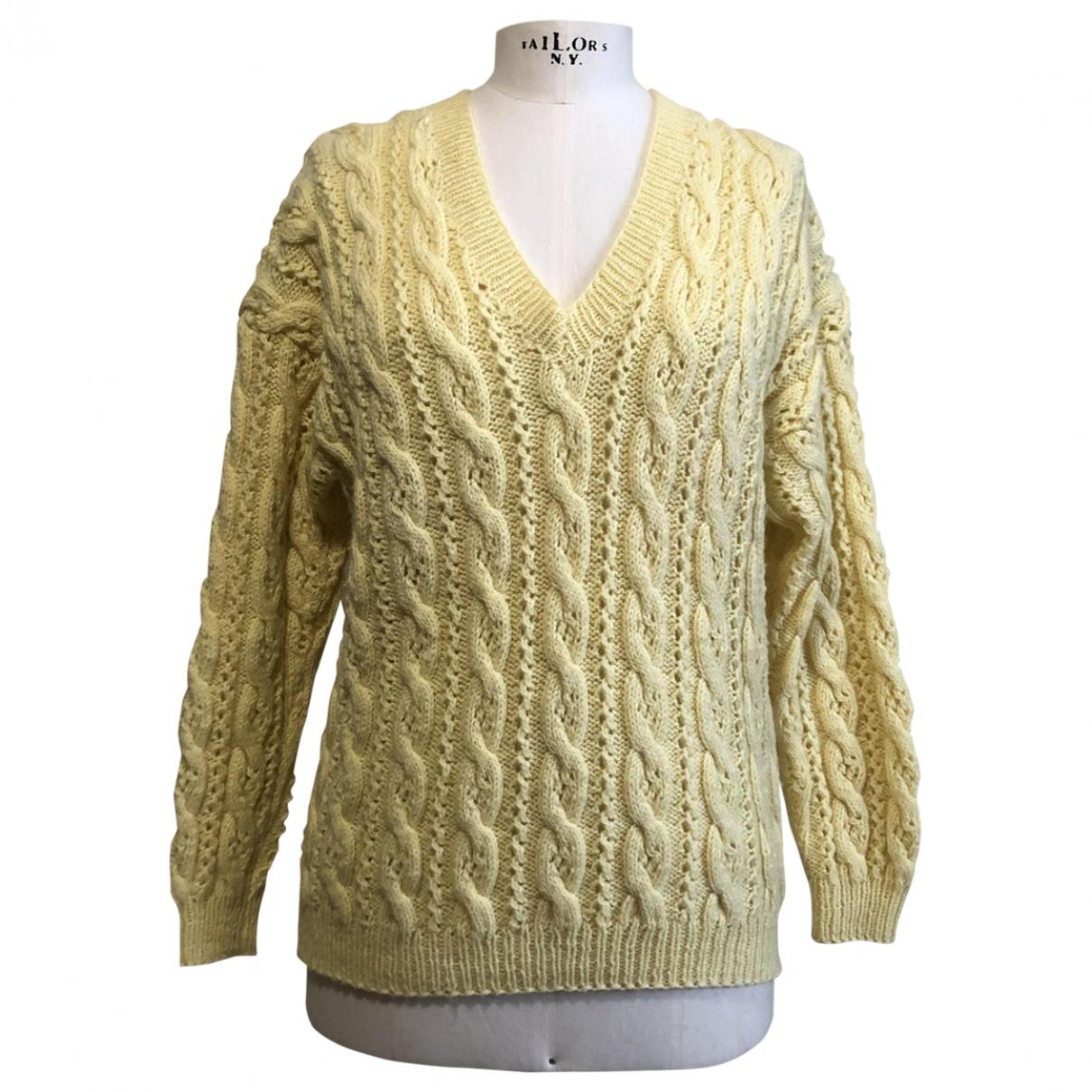 - Pull   pour femme en laine - jaune