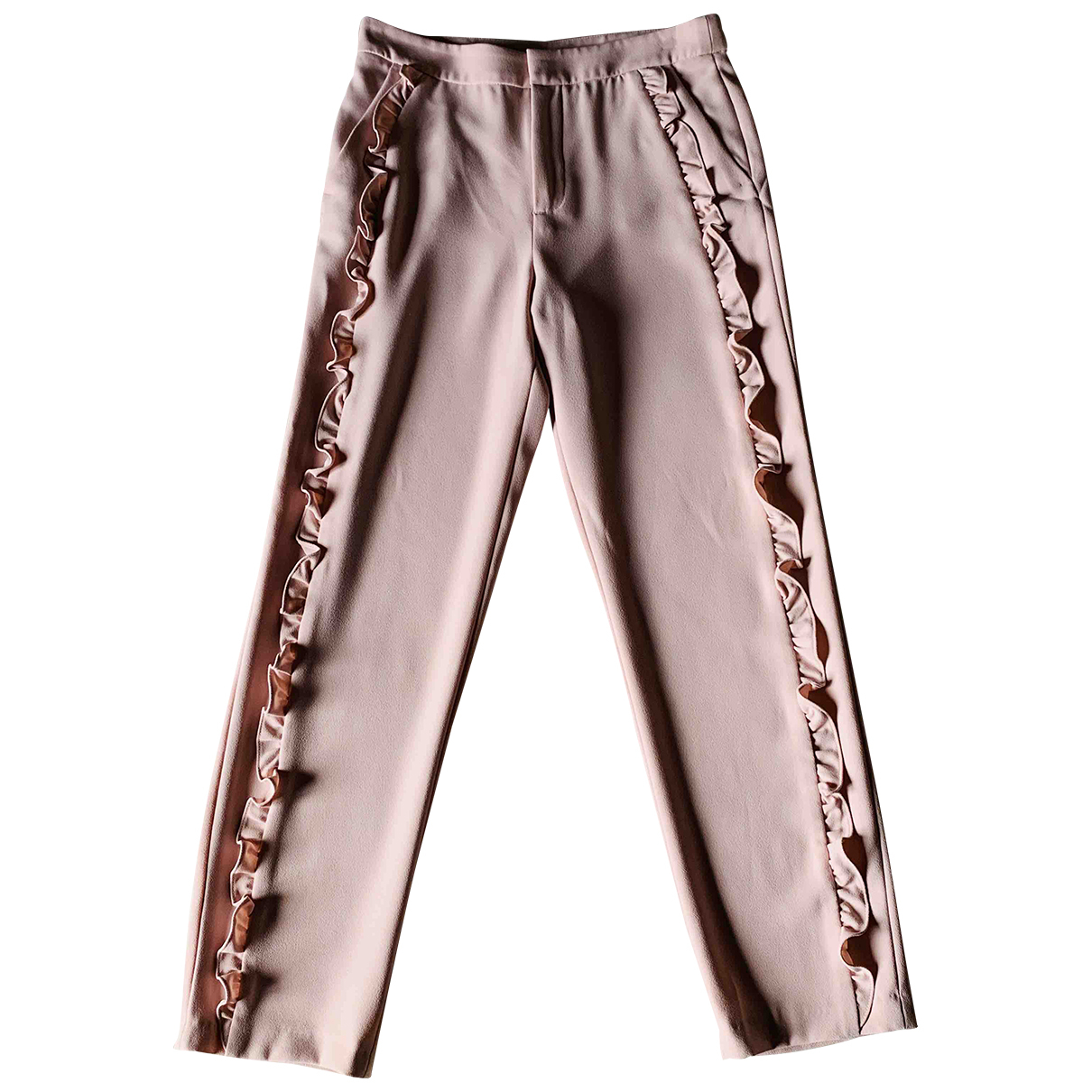 Zara \N Pink Trousers for Women XS International