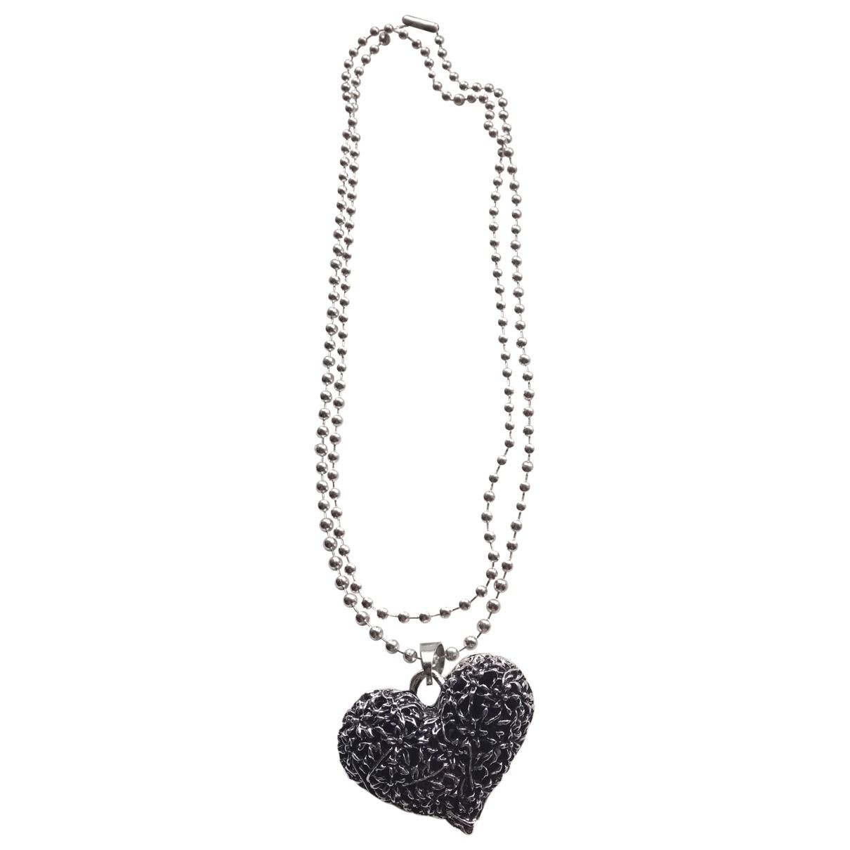- Collier Motifs Coeurs pour femme en metal - argente