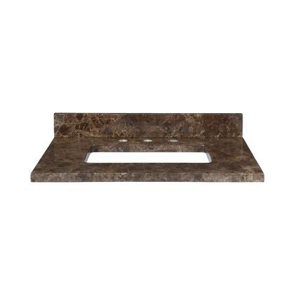 MAUT31RDE Stone Top - 31-inch for Rectangular Undermount Sink  in Dark Emperador