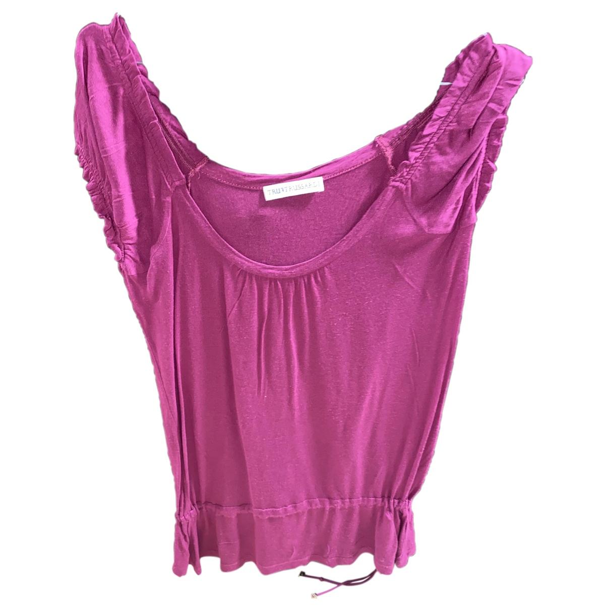 Trussardi N Purple Cotton  top for Women 38 FR