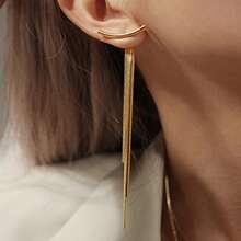 1pair Metal Tassel Earring Jackets