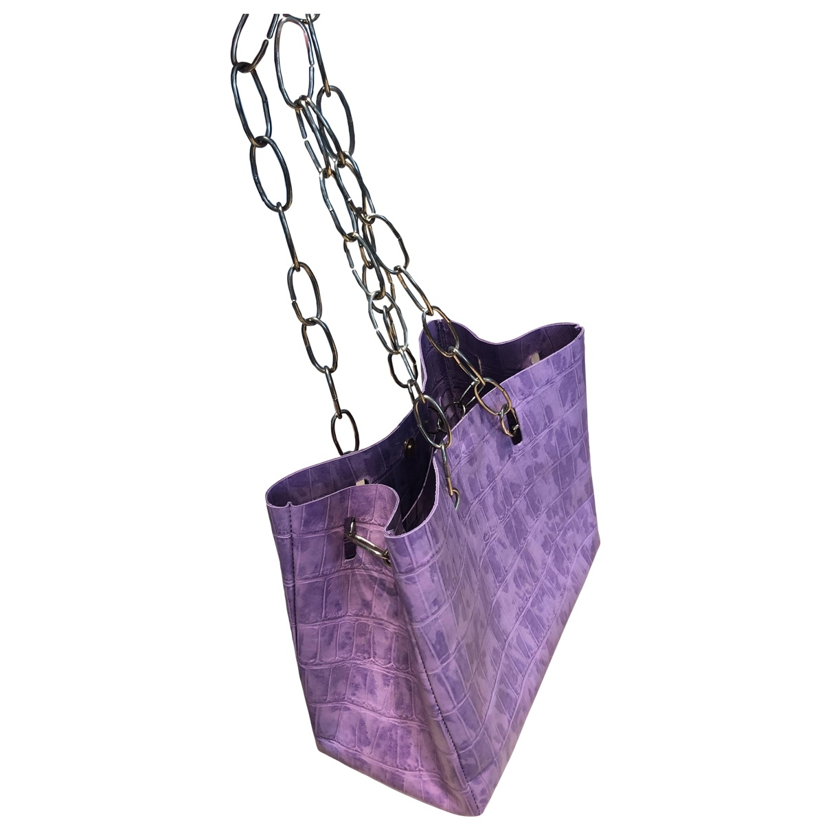 Non Signé / Unsigned \N Purple Leather handbag for Women \N