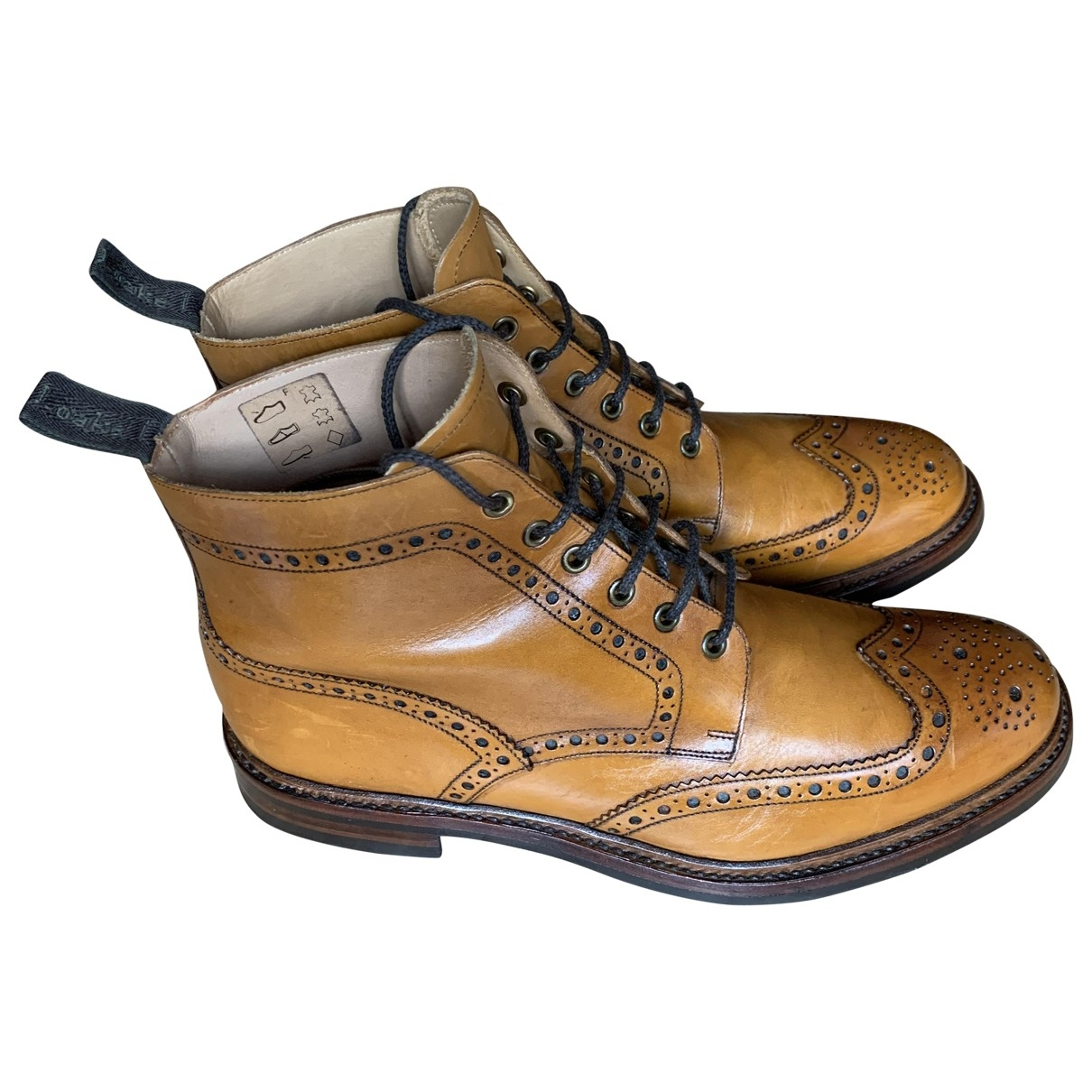 Loake \N Brown Leather Boots for Men 11 UK