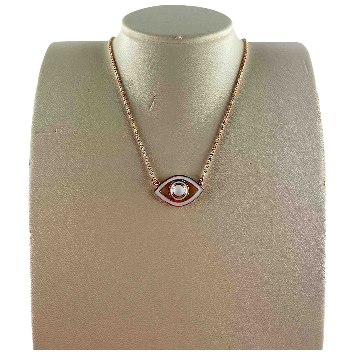 Non Signé / Unsigned Motifs Religieux Pink Silver necklace for Women N