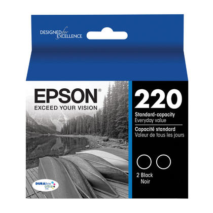 Epson T220120-D2 Original Black Ink Cartridge - Twin Pack
