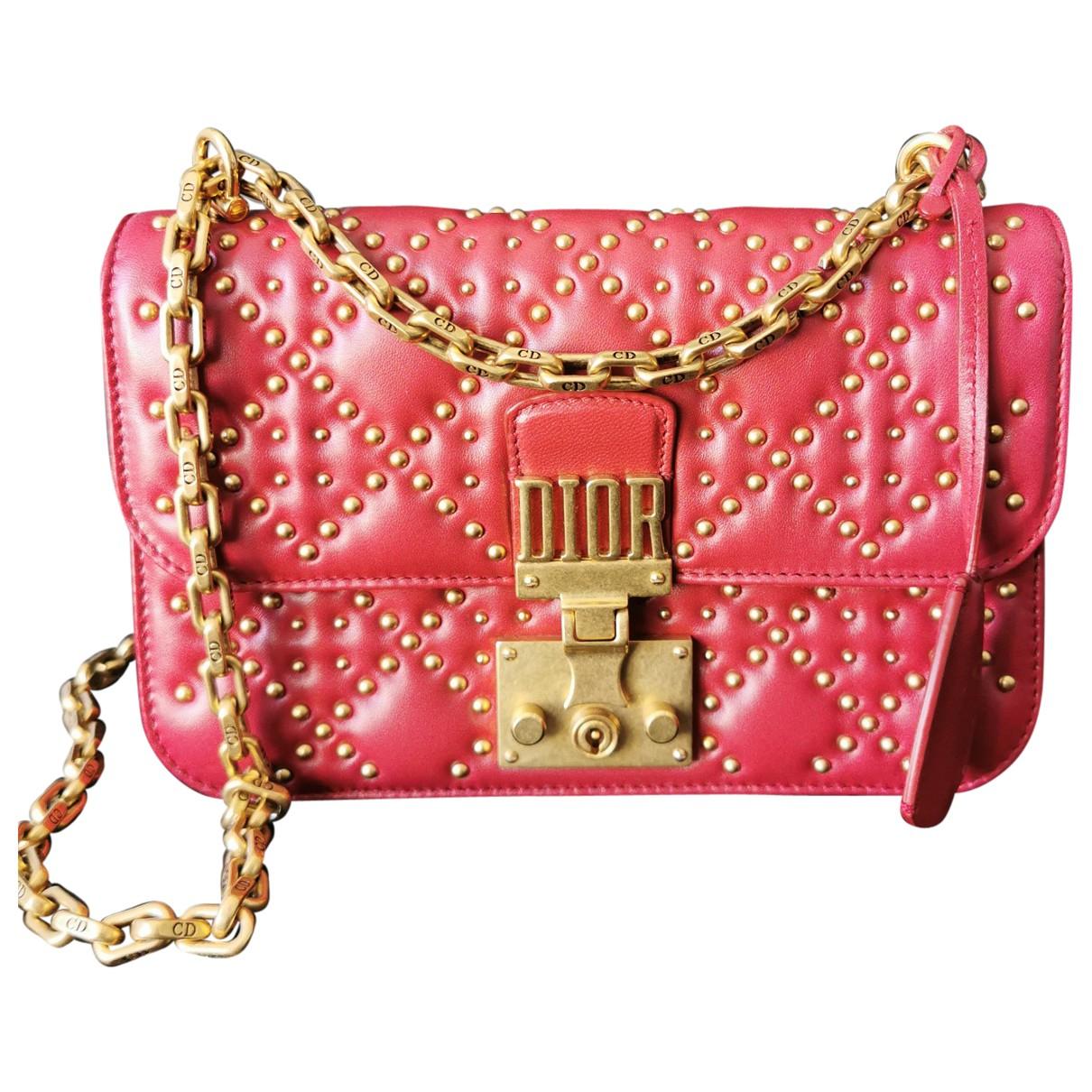 Dior DiorAddict Burgundy Leather handbag for Women \N