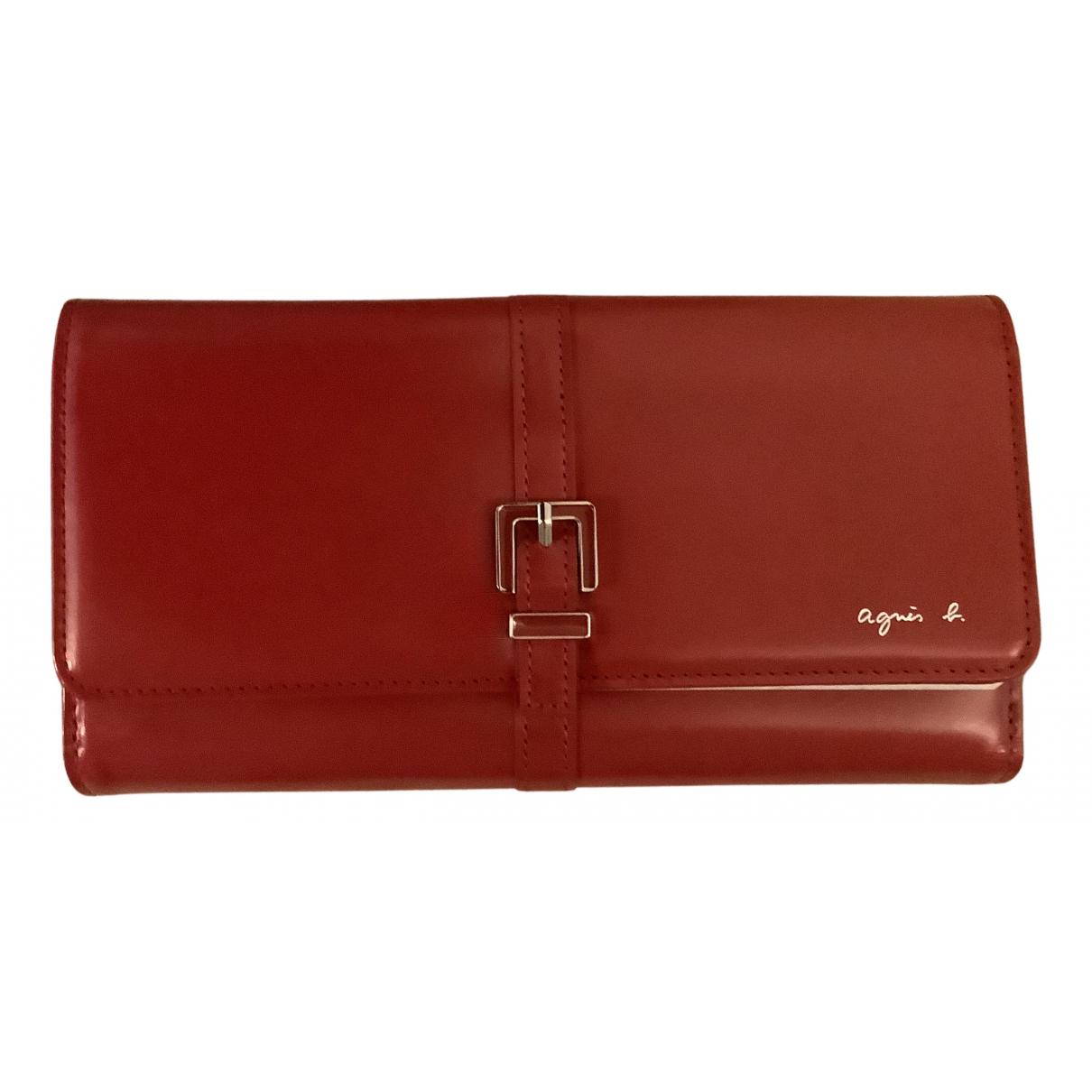 Agnes B. \N Portemonnaie in  Rot Leder