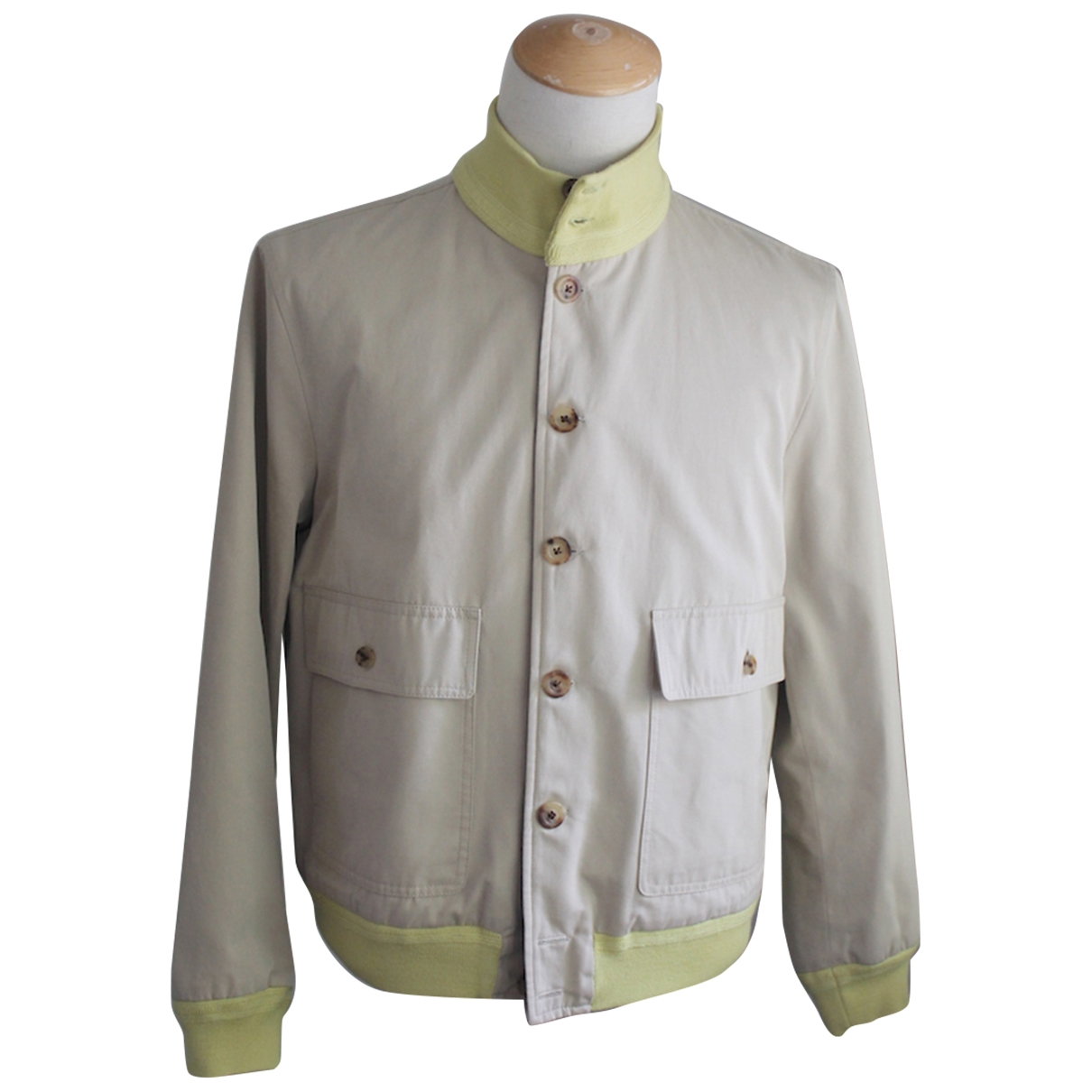 Non Signé / Unsigned \N Beige Wool coat  for Men 40 UK - US