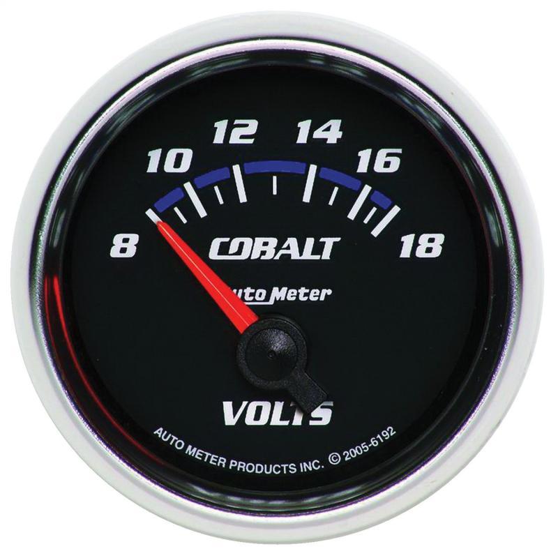 AutoMeter GAUGE; VOLTMETER; 2 1/16in.; 18V; ELECTRIC; COBALT