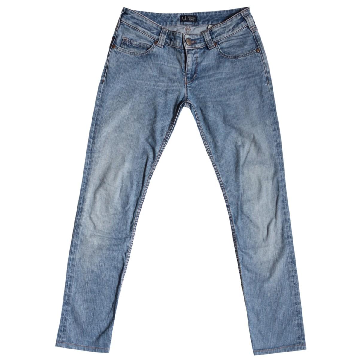 Armani Jeans \N Blue Denim - Jeans Jeans for Women 27 US