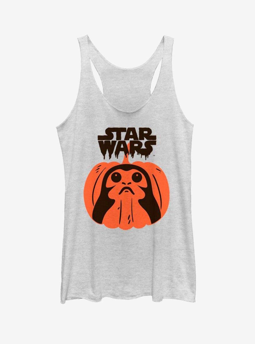 Star Wars: The Last Jedi Porg Pumpkin Womens Tank Top