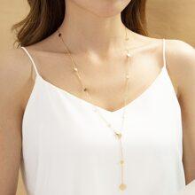Halskette mit Scheibe Dekor