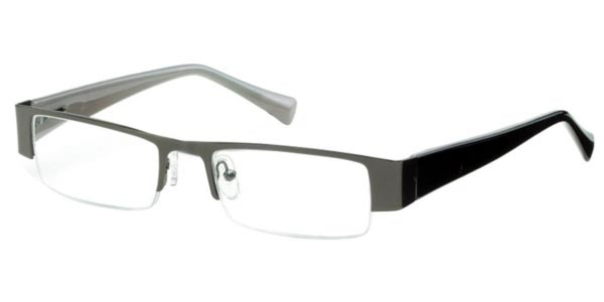 Rectangle Semi Rimless Plastic Mens Glasses Discount Grey Size +3.00 - Free Lenses - HSA/FSA Insurance - Blue Light Block Available - SmartBuy Reader