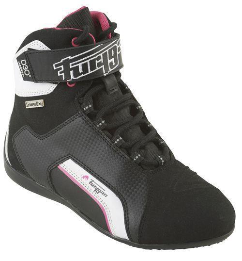 Furygan Jet D3O Sympatex Lady Mujer Zapatos Motorista Negro Rosa 38
