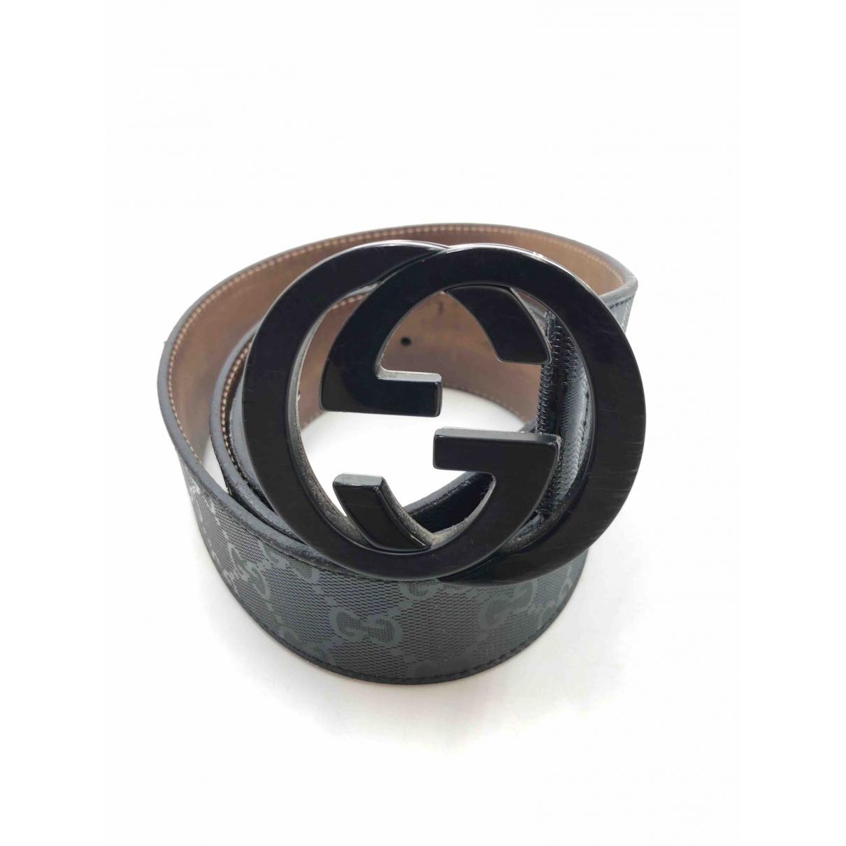 Gucci \N Anthracite Leather belt for Men 95 cm
