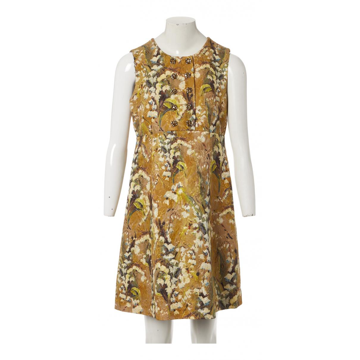 Dolce & Gabbana - Robe   pour femme en laine - multicolore