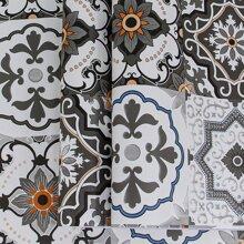 1 Blatt Wandaufkleber mit Vintage Blumen Muster
