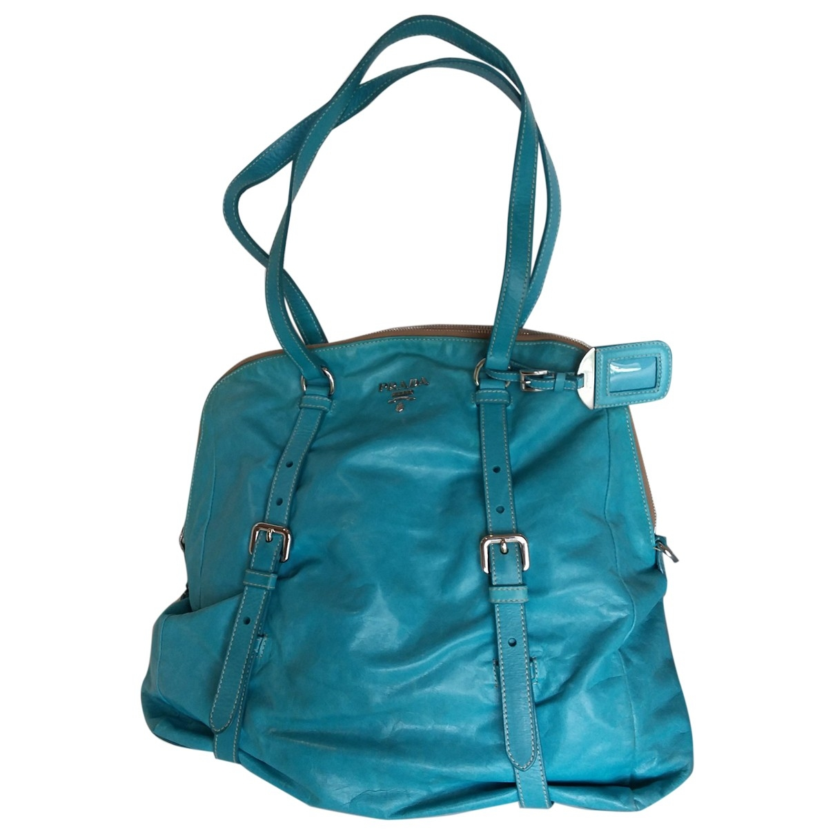 Prada \N Turquoise Leather handbag for Women \N