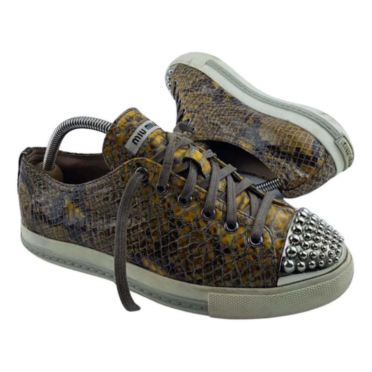 Miu Miu \N Sneakers in  Braun Leder