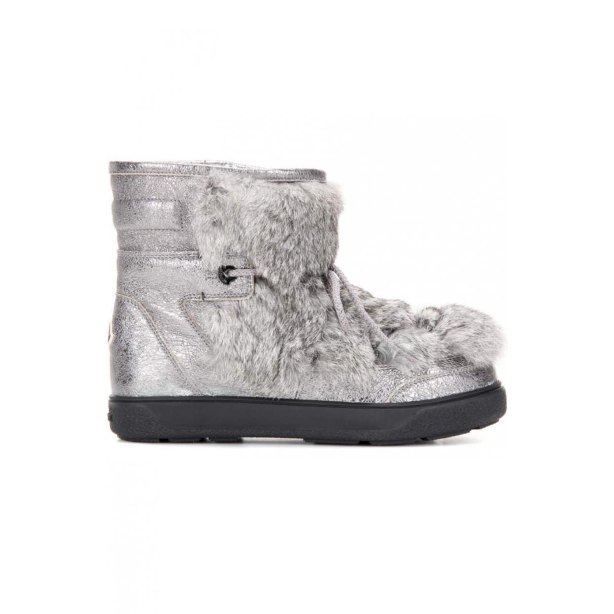 Moncler \N Metallic Rabbit Ankle boots for Women 38 EU