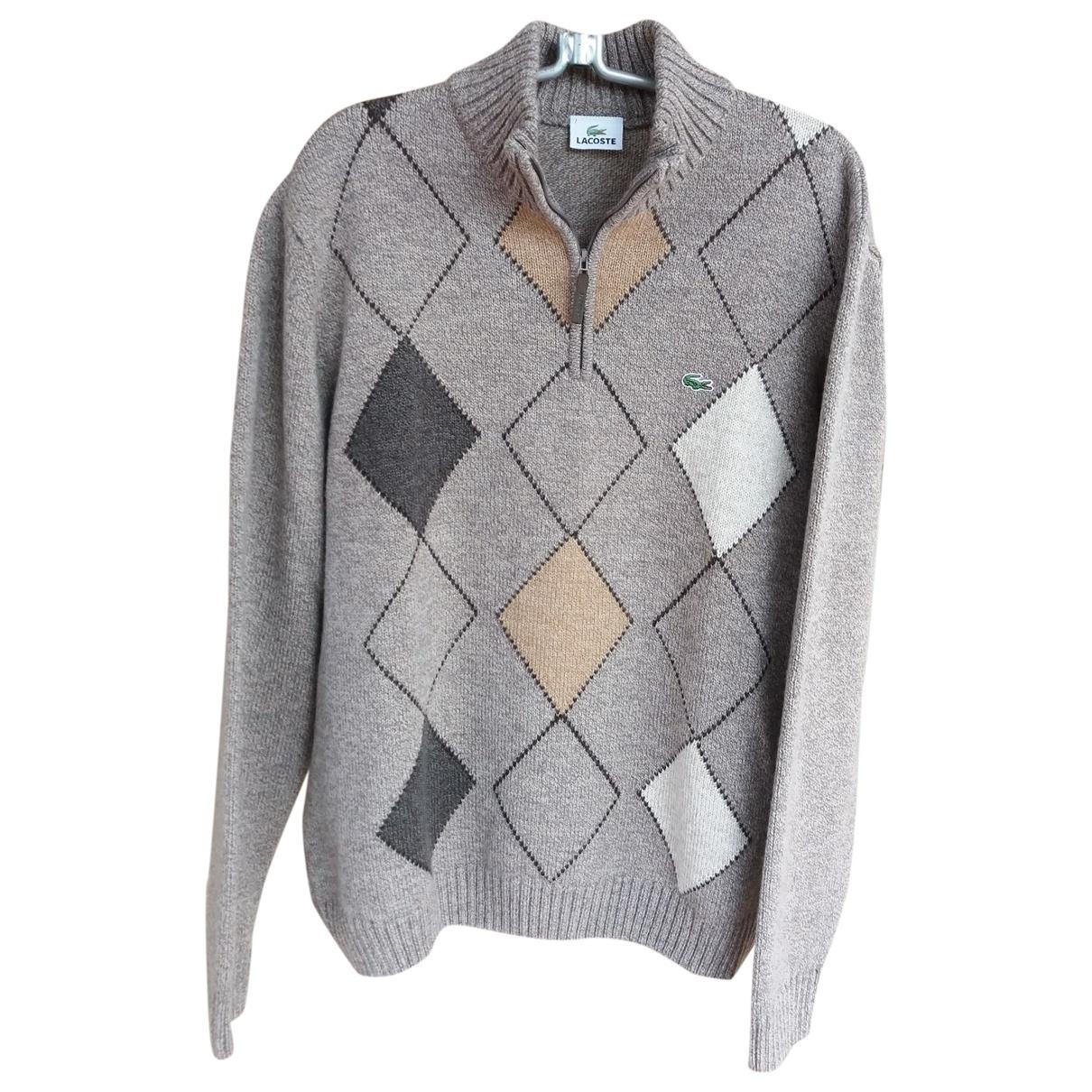 Lacoste - Pulls.Gilets.Sweats   pour homme en laine - gris