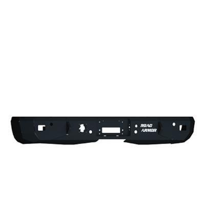 Road Armor Rear Stealth Winch Bumper Truck Only in Raw Steel (Black) - 61000Z