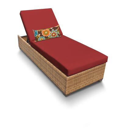 LAGUNA-1x-TERRACOTTA Laguna Chaise Outdoor Wicker Patio Furniture with 2 Covers: Wheat and