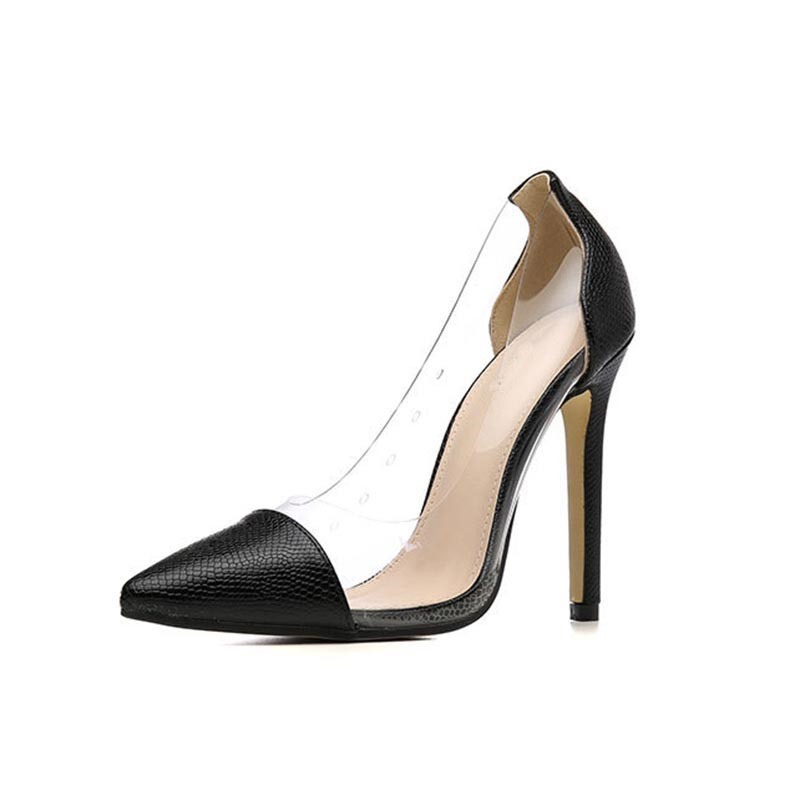 Ericdress Stiletto Heel Pointed Toe Thread Low-Cut Upper Pumps