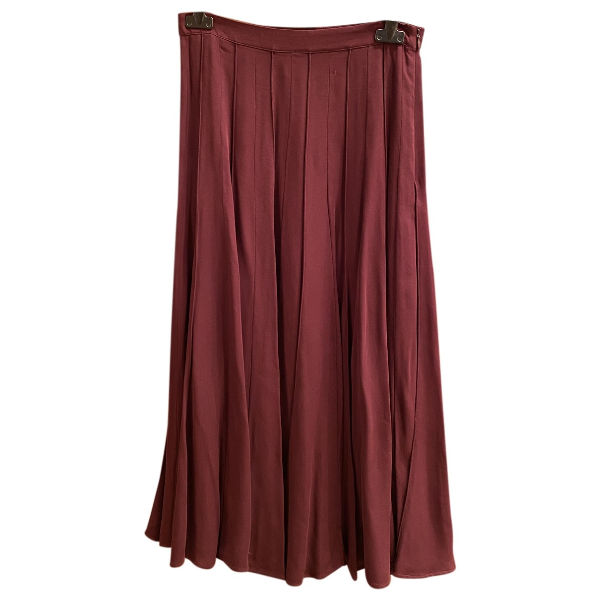 Massimo Dutti N Burgundy skirt for Women 36 FR