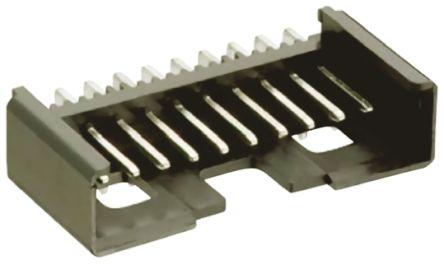 Lumberg , Minimodul, 10 Way, 1 Row, Right Angle PCB Header (10)