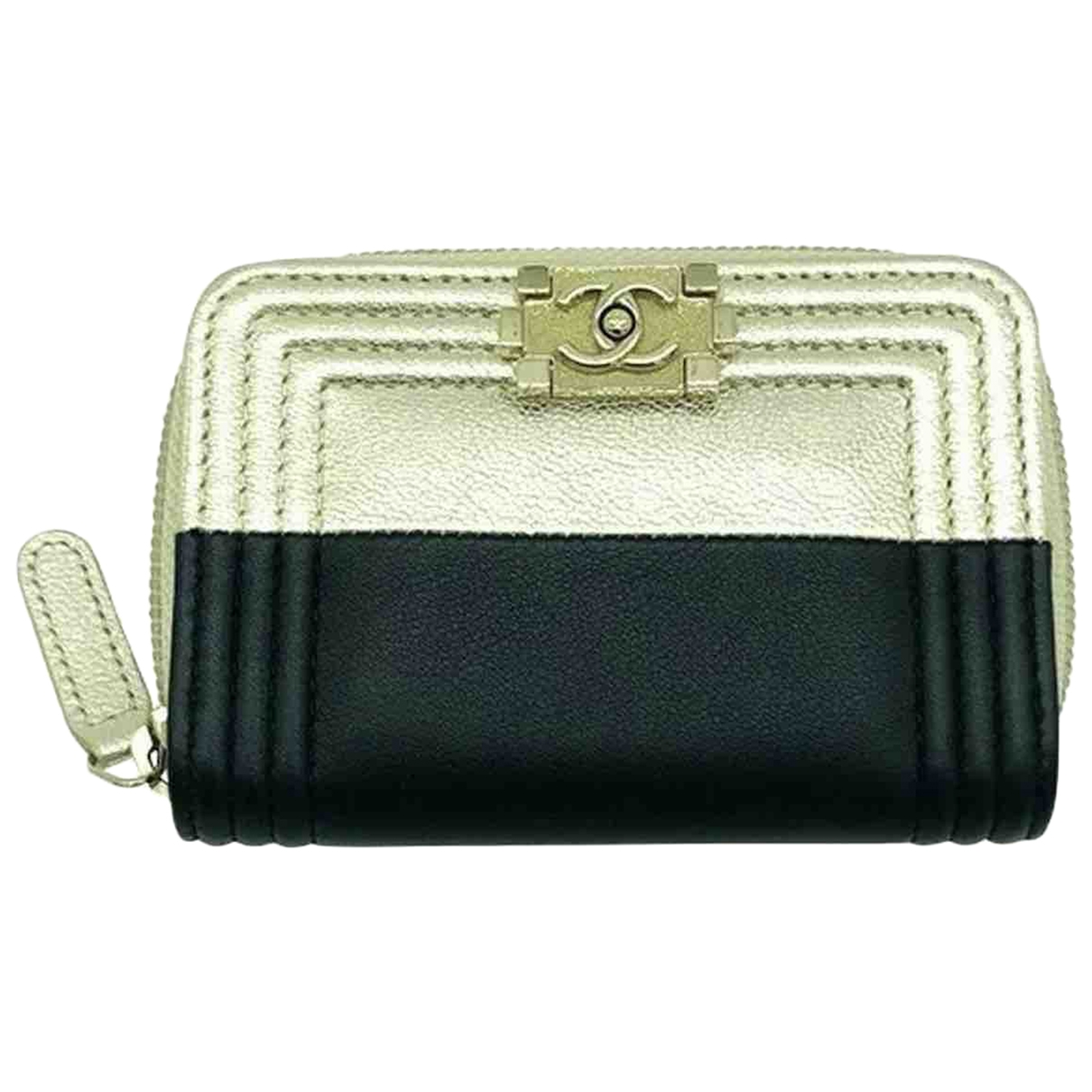 Chanel Boy Black Leather Purses, wallet & cases for Women \N