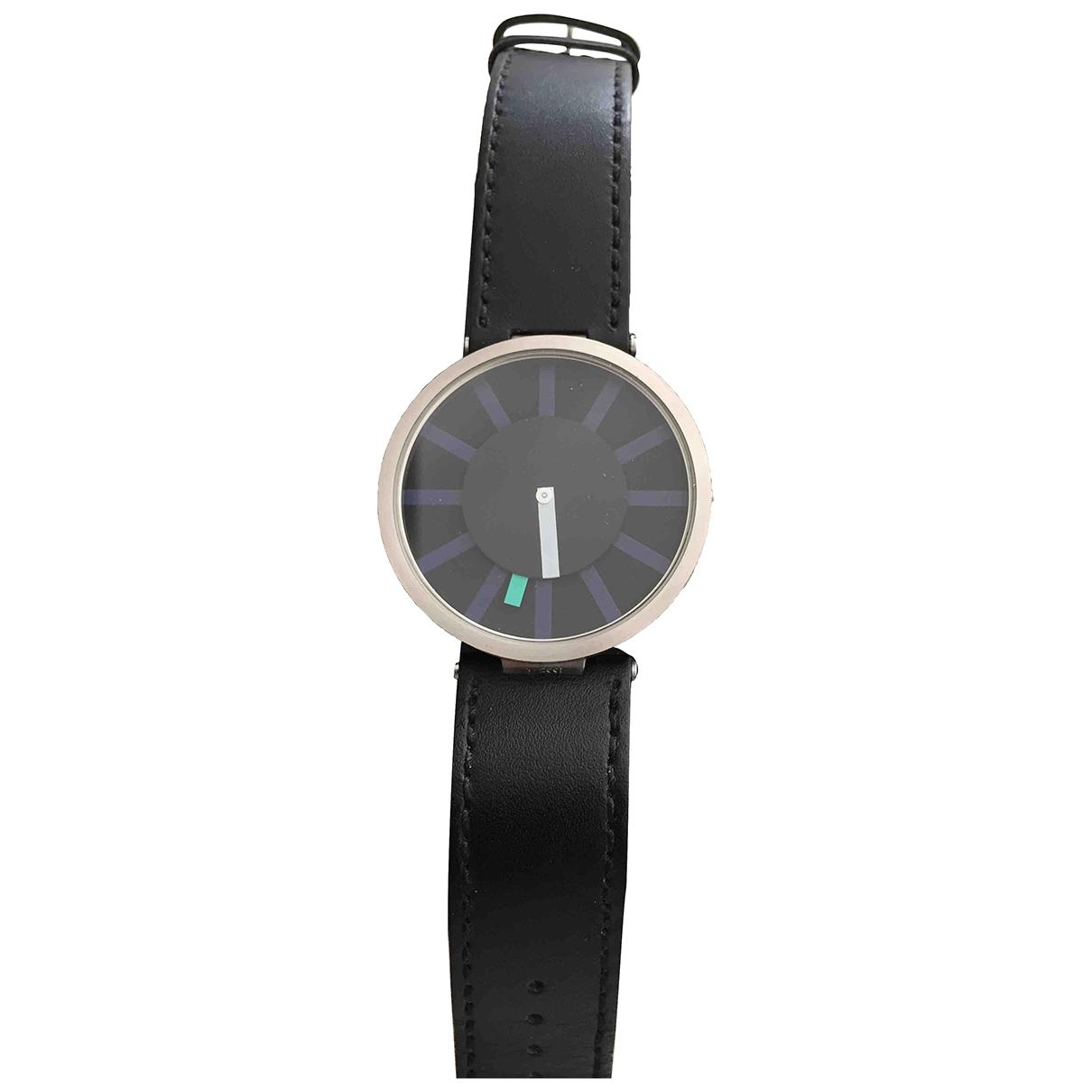 Alessi \N Uhr in  Schwarz Stahl