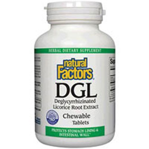 DGL-Deglycyrrhizinated Licorice Root Extract 180 Chewable Tablets by Natural Factors
