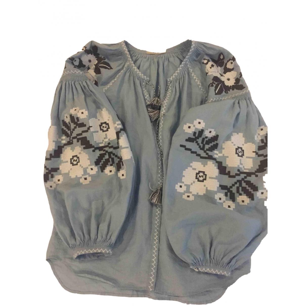Vita Kin \N Blue Linen  top for Women One Size International