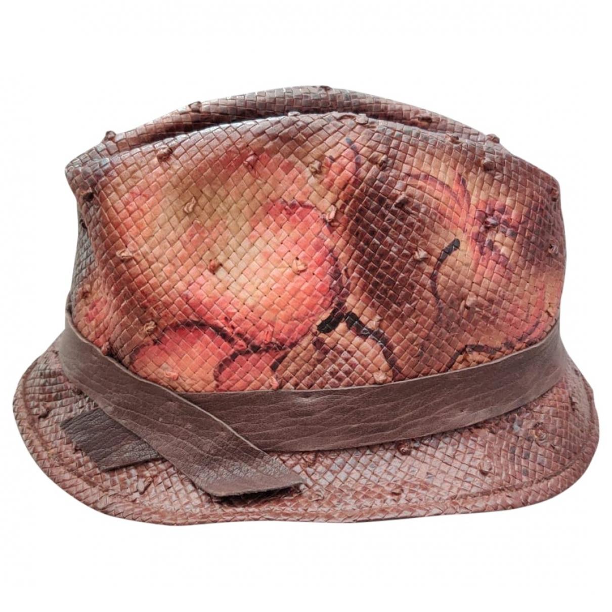 Brunello Cucinelli \N Brown Leather hat for Women S International