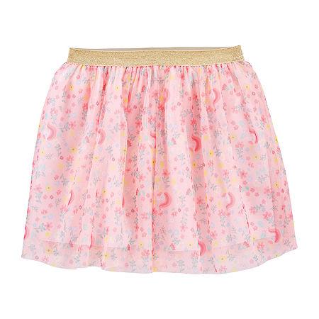 Carter's Little & Big Girls Midi Skater Skirt, 12 , Multiple Colors