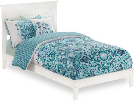 Nantucket Collection AR8211032 Twin Extra Long Size Traditional Bed with Cottage Style  Low Profile Footboard  Foundation Support Boards and