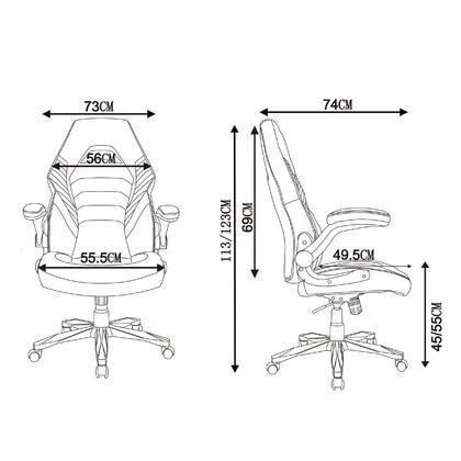 Chaise de jeu de course � haut dossier, chaise d'ordinateur - Moustache� - Noir & Jaune